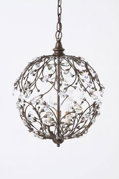 I freakin' LOVE this chandelier. $998 at Anthropologie :( Wonder if I could make something similar with some wire...