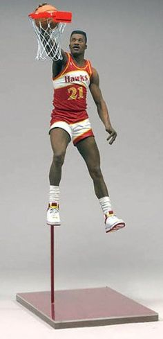 Dominique Wilkins Atlanta Hawks Action McFarlane NBA Legends Series 3 Figurine - http://bignbastore.com/nba-accessories/nba-toys/dominique-wilkins-atlanta-hawks-action-mcfarlane-nba-legends-series-3-figurine