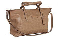 Coach Gathered Soft Leather Satchel Handbag With Removable Shoulder Strap