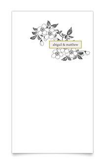 Apple Blossoms Wedding Invitation Vellum- magnetStreet