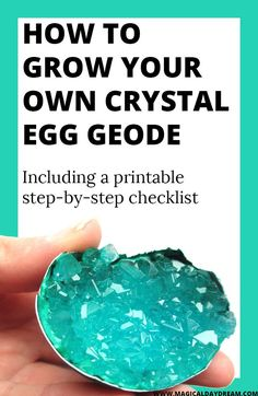 How to make crystal egg geodes (or diamonds in a lid) - Magical Daydream