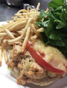 Smoked Ahi Tuna Melt, Melted Gouda, Tomatoes, Local Arugula, Brown's Court Bakery English Muffin #CruCafe #Chs