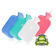 Semi-Transparent Personal Water Bottle by Motion - Hot or Cold Water Pack for Muscle Relaxation / Pain Relief / Comfort Use - Made of High-Quality Silicone & Plastic. PERFECT DESIGN - Motion's Water Bottle can hold up to 2 Quarts of Water in its 12.5-by-7.2 -0.5-inch sturdy pouch. PERFECT MATERIALS - Since it is made of high-quality silicone with a protected plastic twist on cap, it holds the heat longer than traditional rubber bottles. PERFECT FOR LONG-TIME USE - Having a cross-hatch…