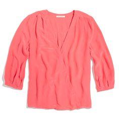Silk V-Neck Blouse Coral, Dear god I love coral:)