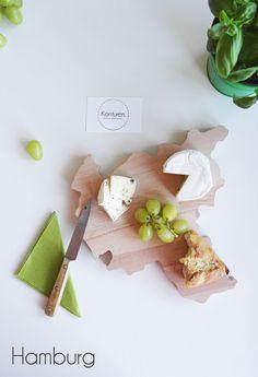 Küchenbretter - Hamburg Schneidebrett Chopping Board - ein Designerstück von gruenesG bei DaWanda