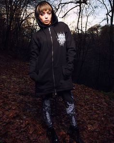 """CRMC X @wirosatan X @viewfromthecoffin """"Aske Til Aske"""" Sweat Parka & CRMC X @wirosatan """"Aske Til Aske"""" Leggings Available at www.crmc-clothing.co.uk 