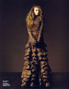 Vlada Roslyakova (Russian model, born in 1987) for Vogue China January 2007