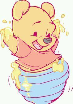 Winnie the Pooh Fan Art - Disney Fan Art - Disney Winnie The Pooh, Winnie The Pooh Drawing, Winne The Pooh, Dumbo Drawing, Winnie The Pooh Tattoos, Cute Disney Drawings, Cute Drawings, Drawing Disney, Drawing Faces