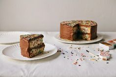 Homemade Funfetti Cake with THE Chocolate Frosting - hummingbird high | a desserts and baking blog