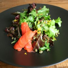 Quick and Easy Smoked Salmon Salad: If you've ever done any last-minute entertaining, you know that sometimes all you need is a quick salad that can easily be thrown together for lunch or dinner guests.