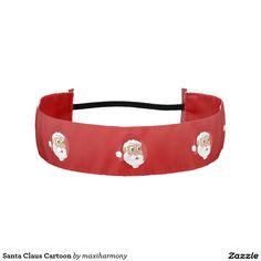 Santa Claus Cartoon Athletic Headbands