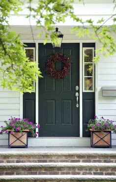 You've long been a fan of preppy style and would live in a Ralph Lauren showroom if you could. There's no better way to evoke that preppy feel than to paint your front door green.