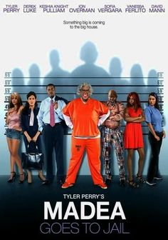 """Tyler Perry's Madea Goes to Jail (2009) When a routine speeding incident turns into a full-blown highway """"situation,"""" Madea (Tyler Perry) mouths off to a cop and lands herself in jail, where she's suddenly trapped behind bars with more motherly instinct than she knows what to do with. But Madea's nurturing side comes in handy when she crosses paths with a recovering drug addict turned prostitute (Keisha Knight Pulliam) who needs all the love she can get."""