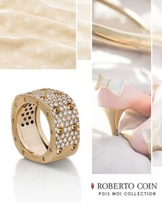 Pois Moi ring in rose gold with colourless diamonds. Available at Kleinhenz Jewelers. 440.892.1020