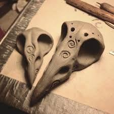 Image result for clay bird skull