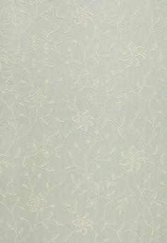 Georgina Linen Embroidery.  Aqua.  Schumacher