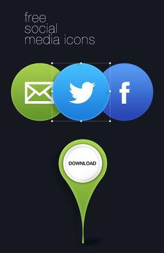 Free Social Media Icons PSD by Dinusha Kapurubandara, via Behance