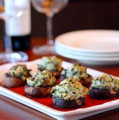 Spinach and Ricotta Stuffed Mushrooms