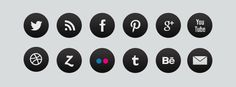 FREE Social Media Icons - download: http://www.studiogfx.com.pl/pobierz/free-social-media-icons.zip