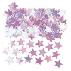 iridescent star metallic table confetti 14g