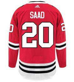 Men's Chicago Blackhawks Brandon Saad adidas Red Authentic Player Jersey