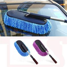 new Car Wash Cleaning Brush Duster Dust Wax Mop Microfiber Telescoping Dusting Tool car-styling