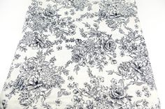 Floral Printed Knit Jersey Fabric Navy and by felinusfabrics