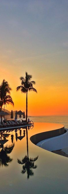 Sunrise at Secrets Marquis, Los Cabos, Mexico.