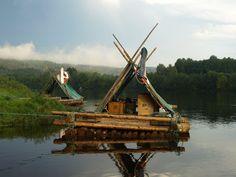 Timber rafting on Klarälven, Sweden