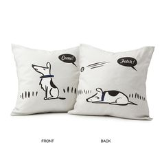 BAD DOG PILLOWS | Dog Décor, Patricia Carlin | UncommonGoods. This is TOO funny!