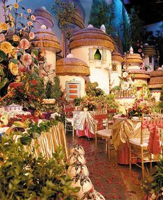 You can have your wedding ceremony in the Great Movie Ride at Disney The Wizard of OZ Munchkinland