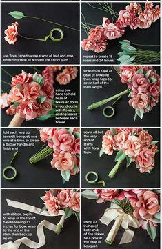 画像 : 結婚1年目【紙婚式】結婚記念日のプレゼントにおすすめの紙製の花束・ブーケの作り方 - NAVER まとめ