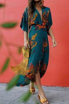 Boho Printed Colour Split V Neck Casual Maxi Dress – vacation outfit ideas,vacation wear,vacation clothes,outfit vacation,vacation fashion,summer vacation style,travel dresses summer,summer vacation clothes  #vacationdresses #stripeddressoutfit #vacationdressesbeach #vacationdressesmexico #vacationdressescasual #caribbean #beach #summer #boho #maxi #hawaii #streetstyle #fashion Summer Outfits, Cute Outfits, Summer Dresses, Fall Outfits, Boho Outfits, Boho Fashion, Fashion Outfits, Womens Fashion, Style Fashion
