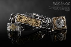 STERLING SILVER & 18K GOLD - CLASSIC COLLECTIONS - MEN'S