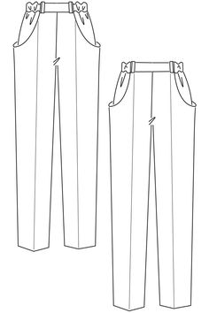 Pants Sewing Pattern How To Draft A Basic Pant Pattern Patterns Sewing Patterns. Pants Sewing Pattern Need A Sewing Pattern For Some Comfy Trousers Or Shorts. Fashion Design Sketchbook, Fashion Design Drawings, Fashion Sketches, Flat Drawings, Flat Sketches, Vogue Sewing Patterns, Simplicity Sewing Patterns, Pattern Sewing, Fashion Patterns