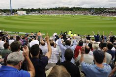 The crowd enjoying play at the 4th Ashes test in Durham.   Credit: End of Light Photography.