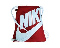 3f41b66018 Nike Heritage Drawstring Backpack Gym Red Gym Backpack