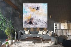 Large Abstract Painting,oil hand painting,original abstract,large office art,abstract texture art FY0020