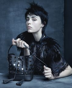Marc Jacobs' Muse Edie Campbell in the Louis Vuitton Spring/Summer 2014 Fashion Campaign, shot by Steven Meisel.