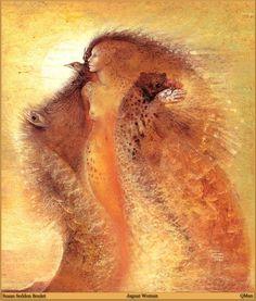 Jaguar Woman by Susan Seddon Boulet ofearna. Native Art, Native American Art, Fantasy Life, Fantasy Art, Spirit Art, Shaman Woman, Art Visionnaire, Poesia Visual, Inspiration Art