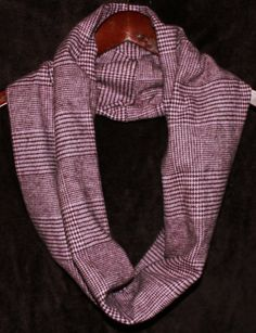Pink & Brown Houndstooth Chunky Cowl Infinity by KtsKollections, $12.00