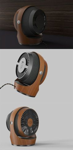What if high-end audio-maker House of Marley made a fan? The result is an elegant combination of rich wood and textile that looks as good as it works. READ MORE at Yanko Design ! Yanko Design, Id Design, Shape Design, Desk Fan, Floating House, Technology Design, Office Accessories, Design Reference, Cool Gadgets
