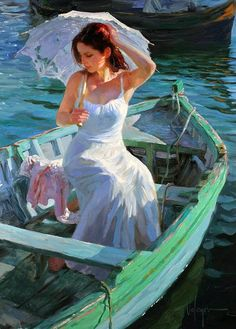 Vladimir Volegov premier art gallery is committed to the philosophy of offering dealer prices to the public on our fine art paintings, and prints. Figure Painting, Painting & Drawing, Boat Painting, Vladimir Volegov, Beautiful Artwork, Most Beautiful Paintings, Figurative Art, Love Art, Oeuvre D'art