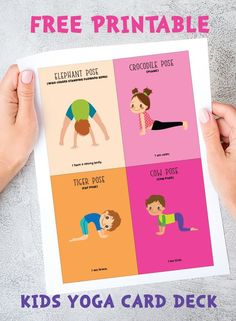 yoga poses for kids printable cards free ~ printable yoga cards for kids free & kids yoga cards free printable & yoga poses for kids printable cards free & free printable yoga pose cards for kids & free printable animal yoga cards for kids Yoga Poses For Two, Kids Yoga Poses, Yoga For Kids, Exercise For Kids, Partner Yoga, Kids Yoga Printables, Physical Education, Health Education, Preschool Yoga