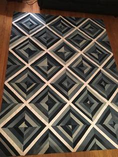 Modern Quilt Patterns, Quilt Block Patterns, Quilt Blocks, Nancy Zieman, Tim Holtz, Optical Illusion Quilts, Optical Illusions, 3d Quilts, Blue Quilts