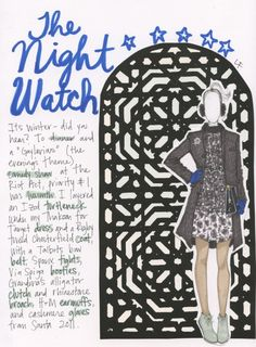 The Night Watch | My Closet in Sketches.