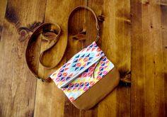 The City Bag  - Sunset Rainbow - Cross body bag / purse / fold over $58