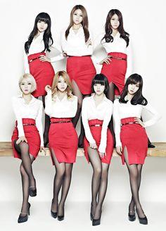 #AceOfAngels #AOA Chanmi, Choa, Hye Jeong, Yuna, Seolhyun, Jimin & Mina #AOE #Miniskirt