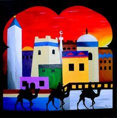 """WINDOW ONTO ARABIA"" - Acrylic on Canvas 50x50 cm - FOR SALE!"