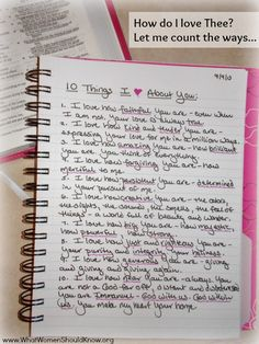 "Prayer Journal Prompt: Tell God ""10 Things I Love About You!"""